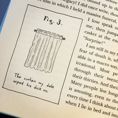 The doodles in Dunham's book are also flawless.