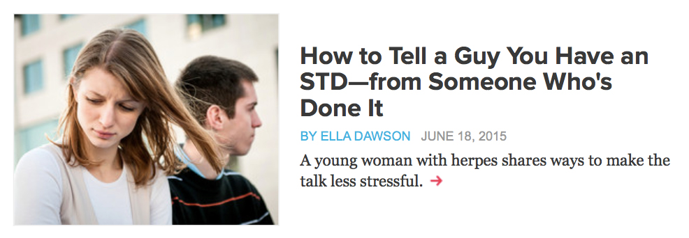 Dating en person med en STD